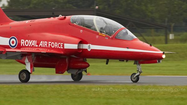 BAe Hawk T1/T1A, Red Arrows, The Royal Air Force aerobatic team, RAF Scampton.